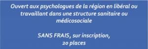 Réseau d'échanges de pratiques entre psychologues 2019/2020 - CRANSE - Rouen