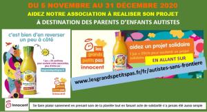 ASPERGER-ACCUEIL participe à l'opération « les grands petits pas » : soutien aux parents et aidants d'enfants autistes - 5 Novembre>31 Décembre 2020