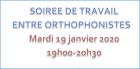 Soirée de travail entre orthophonistes - CRANSE - 19/01/2021 de 19h00 à 20h30